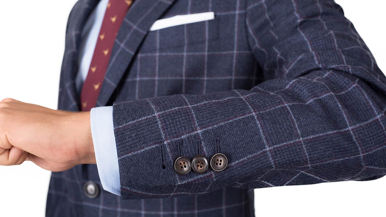 Blue Plaid Wool Flannel Suit - slider image 1