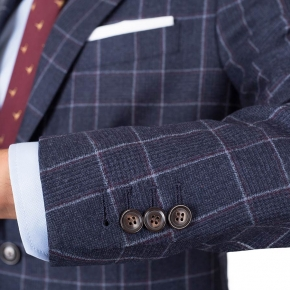 Blue Plaid Wool Flannel Suit - thumbnail image 1