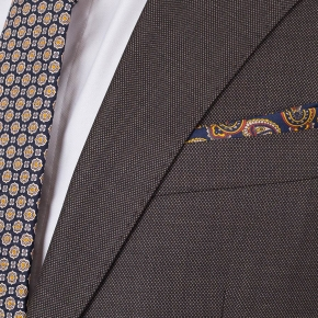 Vendetta Premium Charcoal Brown Birdseye Suit - thumbnail image 2