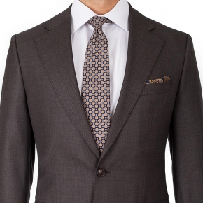 Vendetta Premium Charcoal Brown Birdseye Suit - thumbnail image 3