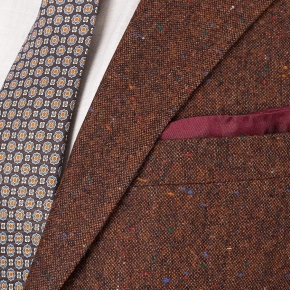 Copper Brown Donegal Tweed Suit - thumbnail image 2