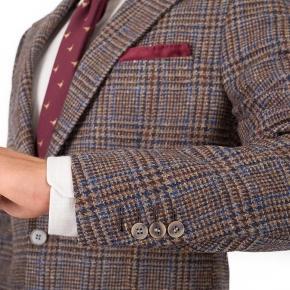 a354d8f6bf3b Brown Plaid Shetland Tweed Suit
