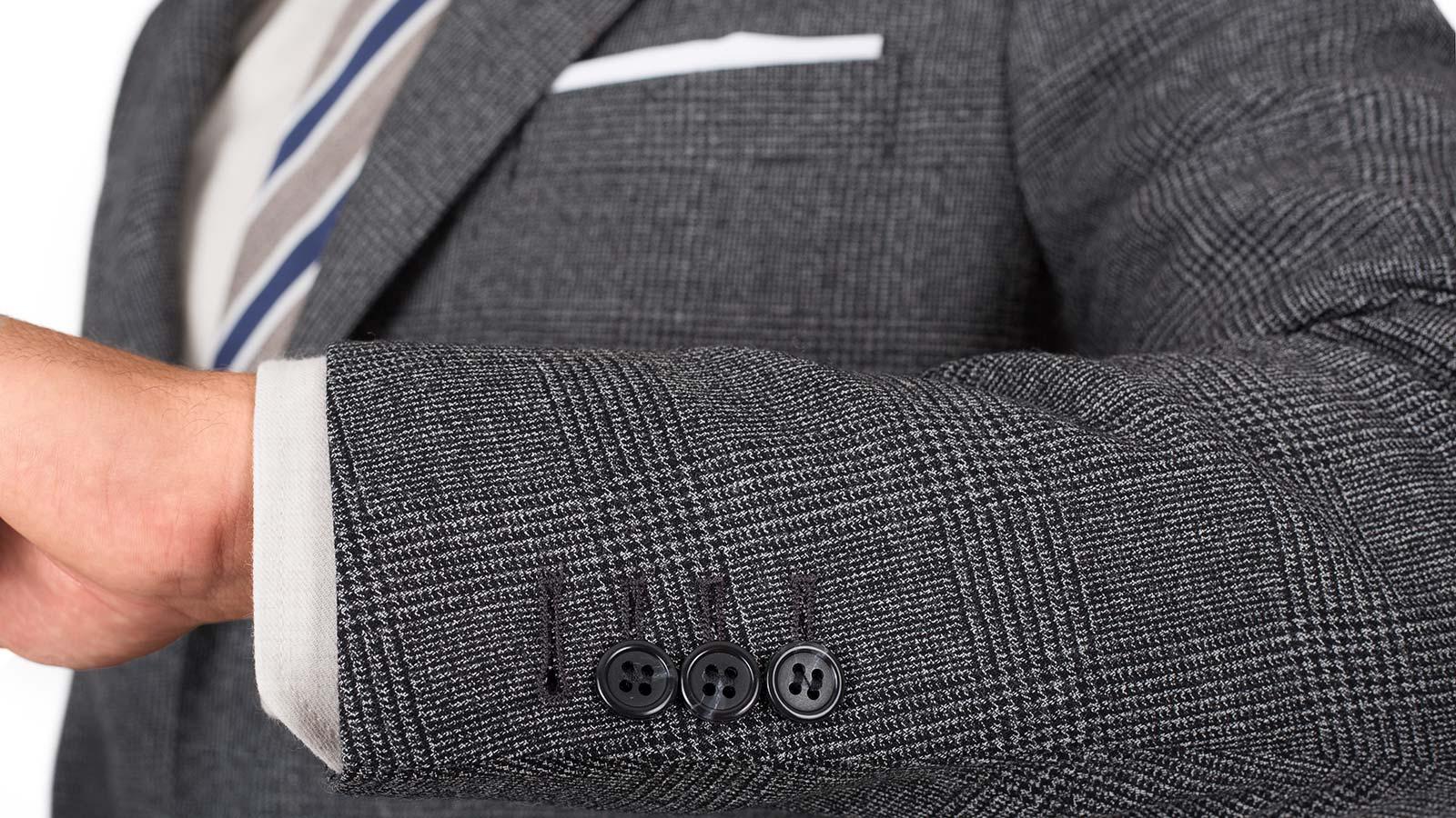 Charcoal Plaid Suit - slider image 1