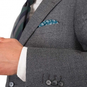 Dark Grey Houndstooth 3 Piece Suit - thumbnail image 1