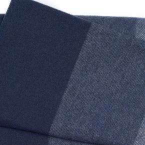 Navy & Blue Striped Wool Scarf - thumbnail image 2