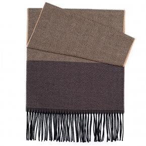 Sand & Brown Wool Scarf - thumbnail image 1