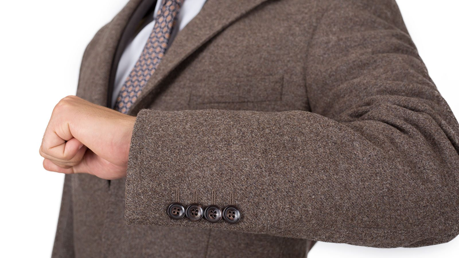Coat in Brown Wool-Cashmere - slider image