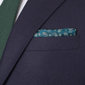 Navy Blue Wool Flannel Suit - thumbnail image 2