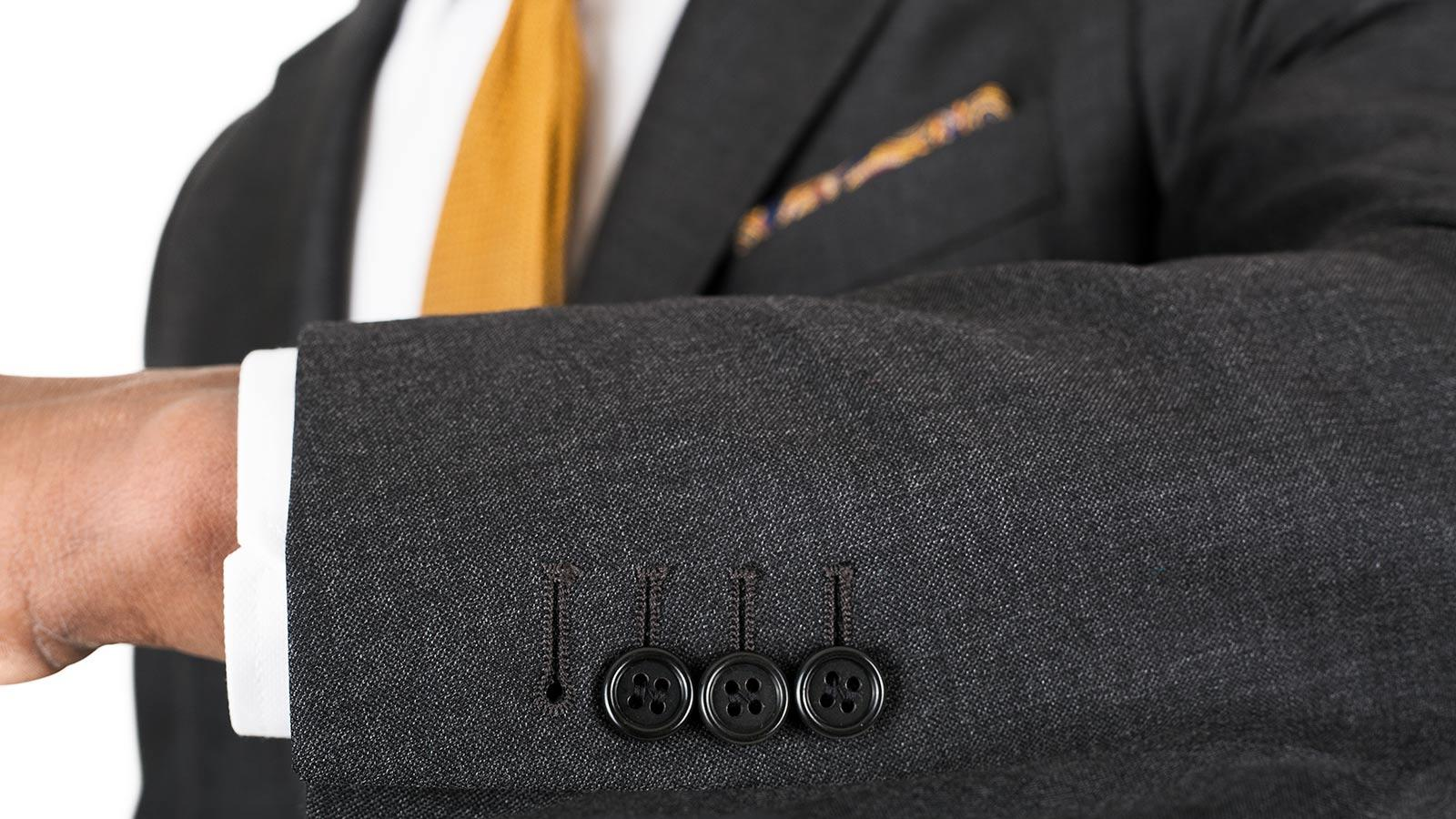 Suit in Charcoal Pick & Pick Wool - slider image 1