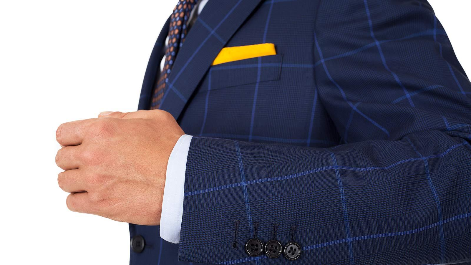 Vendetta Premium Blue Check Navy Plaid Suit - slider image 1