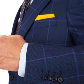 Vendetta Premium Blue Check Navy Plaid Suit - thumbnail image 1