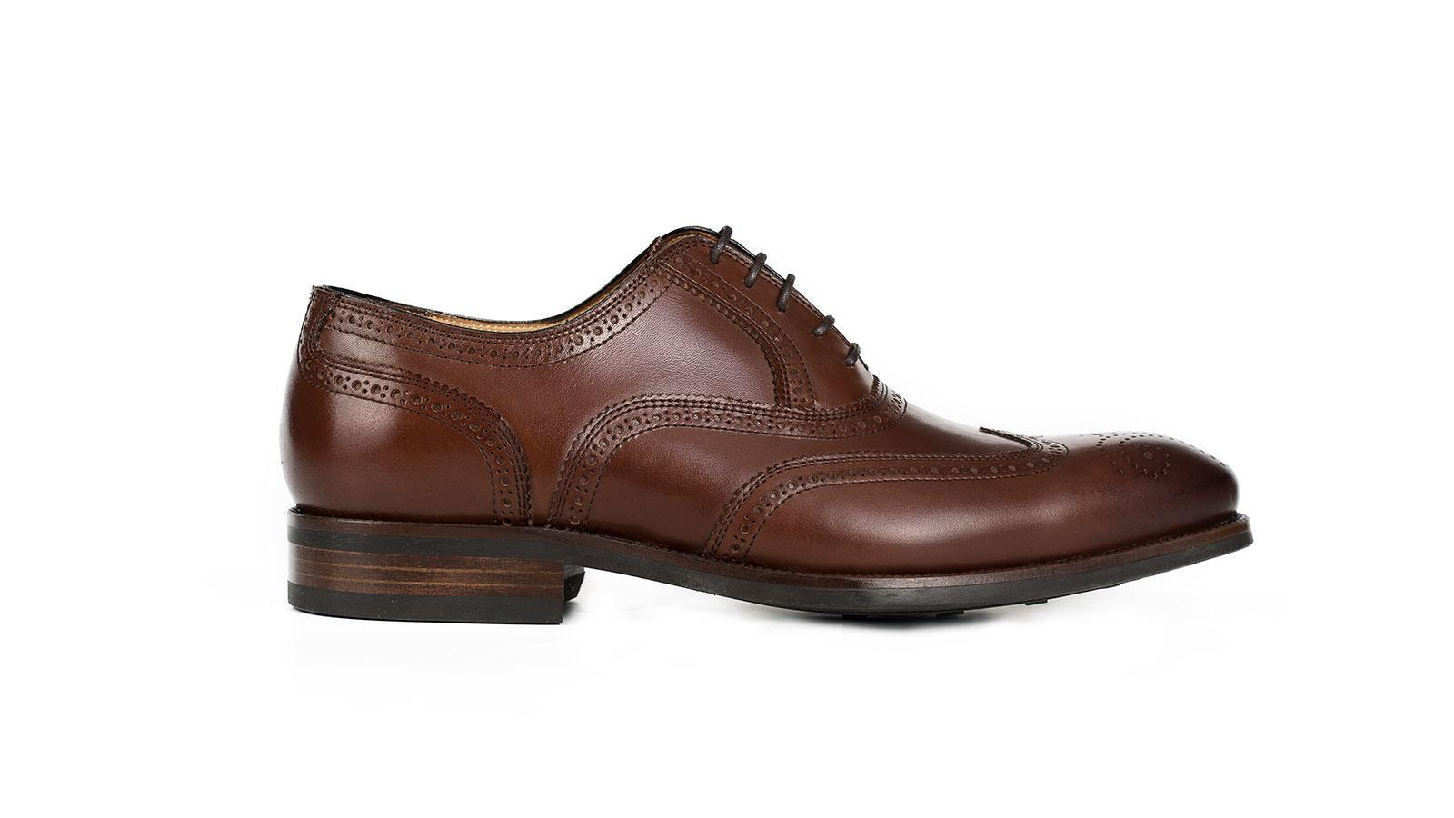 Walnut Wingtip Oxford with a Rubber Sole - slider image 1