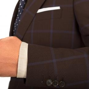Blue Check Brown Suit - thumbnail image 1