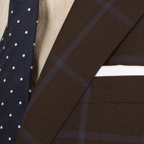 Blue Check Brown Suit - thumbnail image 2