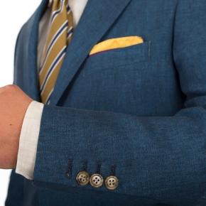 Teal Blue Linen Suit - thumbnail image 1