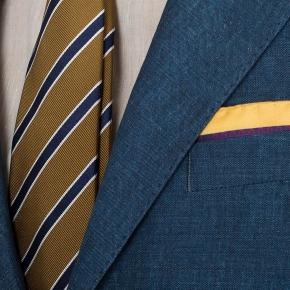 Teal Blue Linen Suit - thumbnail image 2