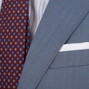 Sky Blue Wool & Silk Suit - thumbnail image 2