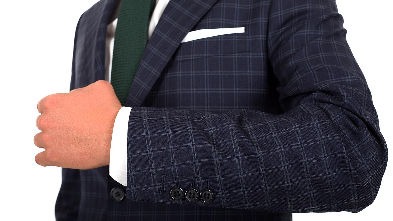 Navy Check Suit - slider image 1