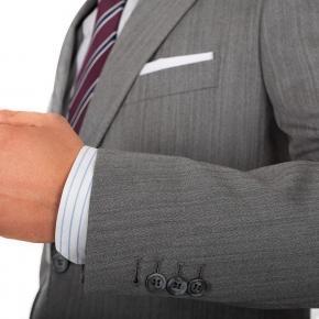 Grey Herringbone Suit - thumbnail image 1
