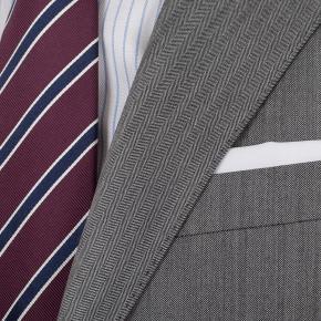 Grey Herringbone Suit - thumbnail image 2