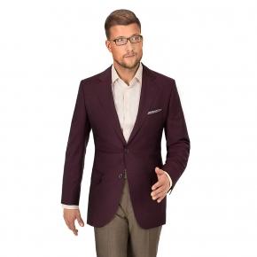Burgundy Wool & Mohair Suit - thumbnail image 3
