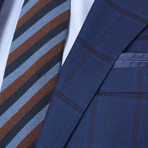 Vendetta Premium Red Check Navy Suit - thumbnail image 2