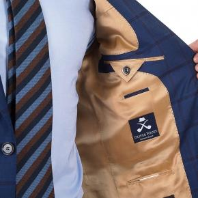 Vendetta Premium Red Check Navy Suit - thumbnail image 3