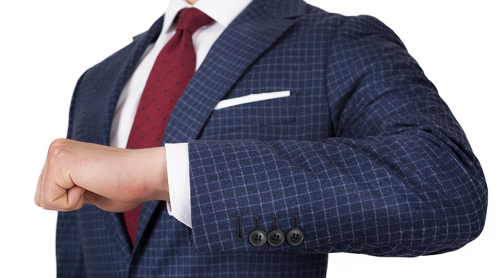 Blue Check Suit - slider image