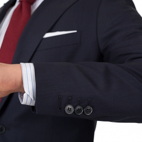 Vendetta Premium Dark Navy Sharkskin Suit - thumbnail image 1