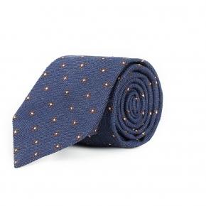 Blue Floral Bourette Silk Tie - thumbnail image 1