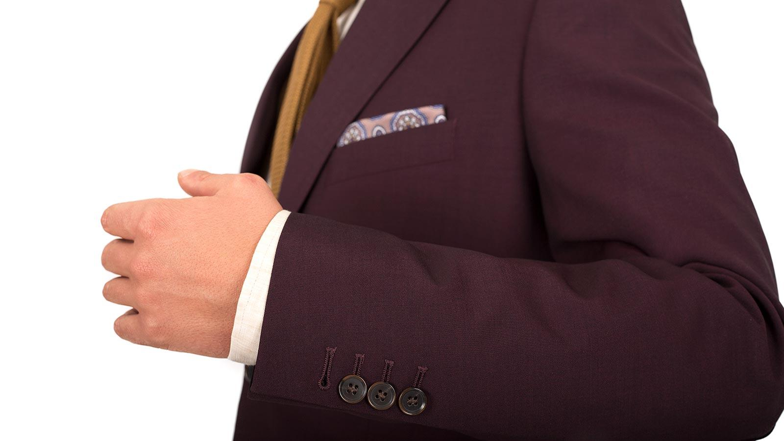 Burgundy Wool & Mohair Blazer - slider image 1