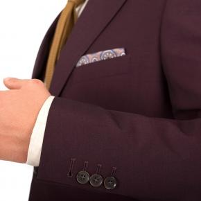 Burgundy Wool & Mohair Blazer - thumbnail image 1