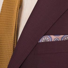Burgundy Wool & Mohair Blazer - thumbnail image 2