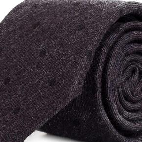 Charcoal Dotted Wool Tie - thumbnail image 1