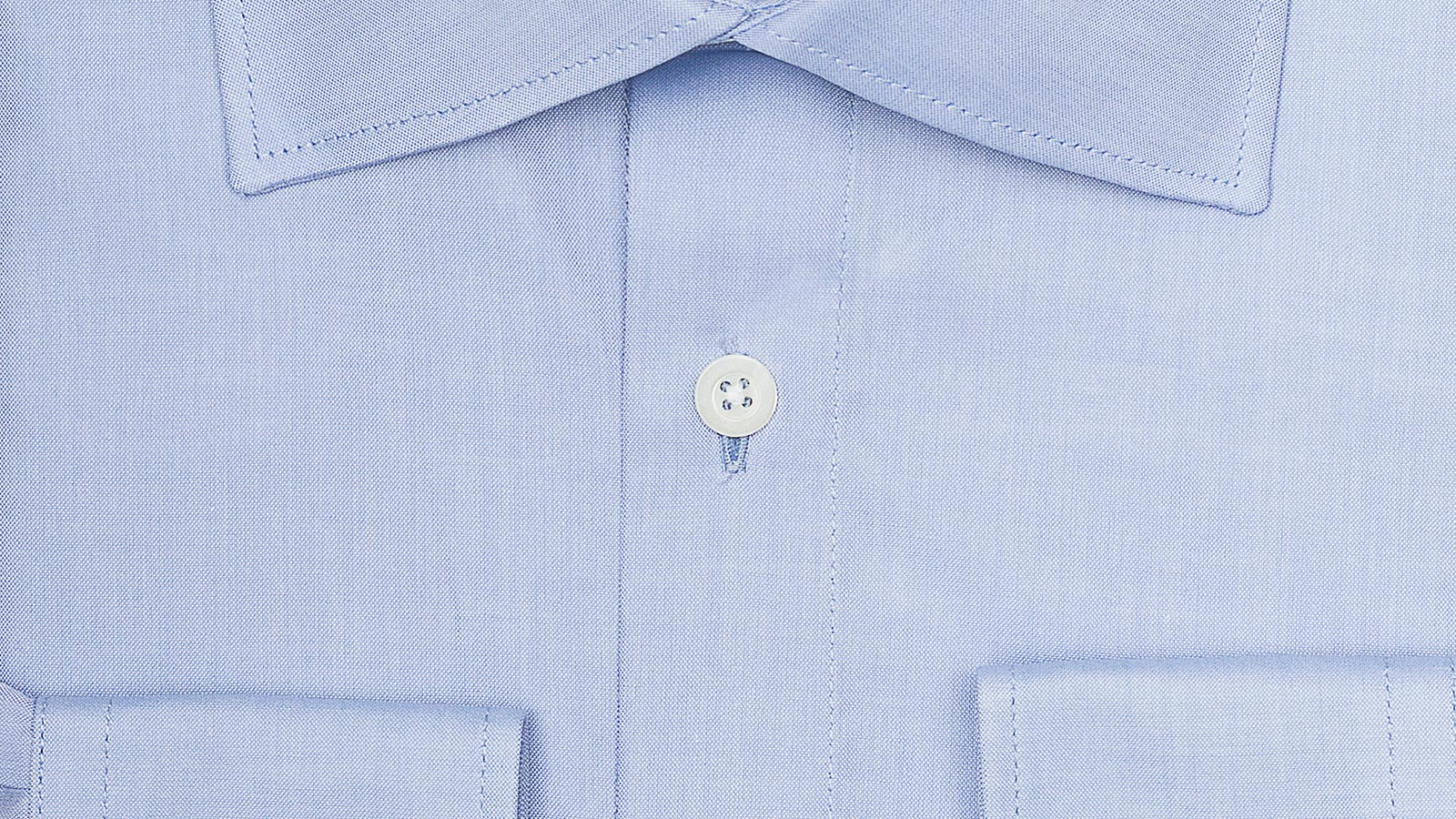 Light Blue Two-Ply Cotton Oxford Shirt - slider image