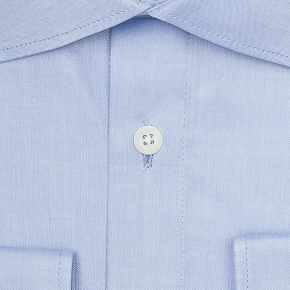 Light Blue Two-Ply Cotton Oxford Shirt - thumbnail image 1