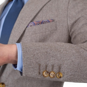 Light Brown Wool Flannel Suit - thumbnail image 2