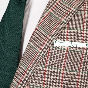Light Brown Plaid Wool & Cashmere Suit - thumbnail image 1