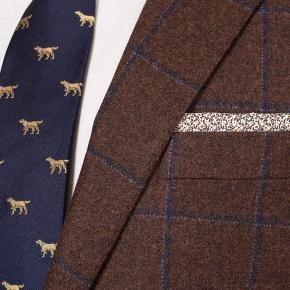 Blue Check Brown Wool & Cashmere Suit - thumbnail image 1