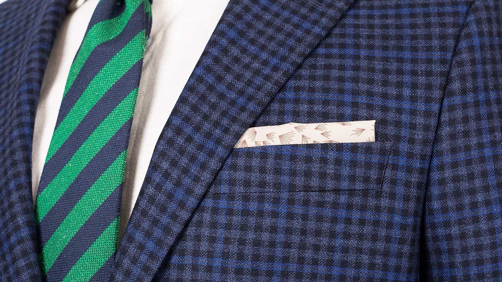 Blue Guncheck Wool & Cashmere Suit - slider image 1