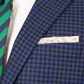 Blue Guncheck Wool & Cashmere Suit - thumbnail image 1