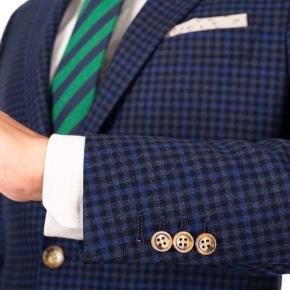 Blue Guncheck Wool & Cashmere Suit - thumbnail image 2