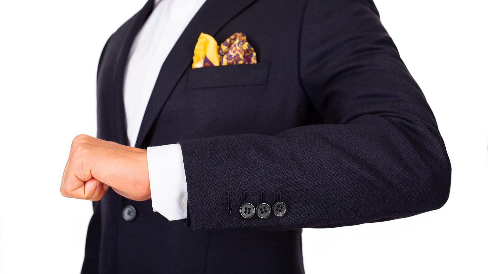 Dark Navy Wool-Silk-Cashmere Blazer - slider image 1