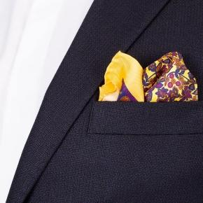 Dark Navy Wool-Silk-Cashmere Blazer - thumbnail image 2