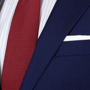 Suit in Deep Blue Pick & Pick Wool - thumbnail image 1