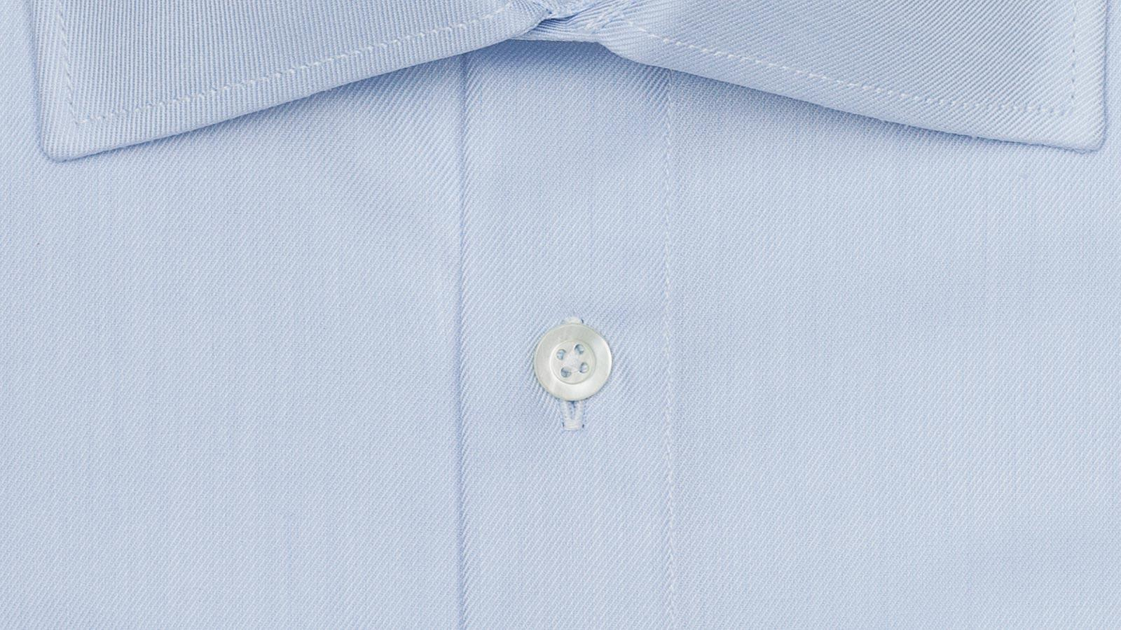 Light Blue Cotton Twill Shirt - slider image
