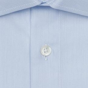 Light Blue Two-Ply Cotton Twill Shirt - thumbnail image 1