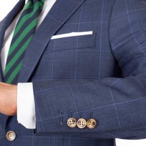Sky Blue Windowpane Pick & Pick Suit - thumbnail image 1