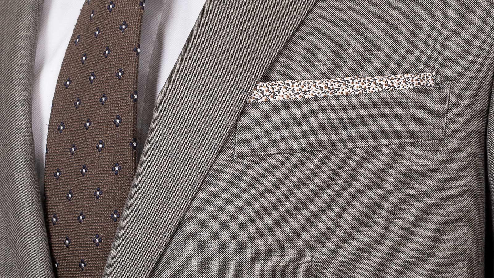 Taupe Pick & Pick Suit - slider image 1