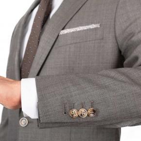 Warm Grey Pick & Pick Suit - thumbnail image 2